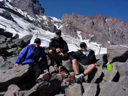 Phil, John and Jeff at Camp Muir