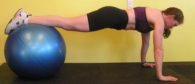 Hand/Shins  on Ball Plank