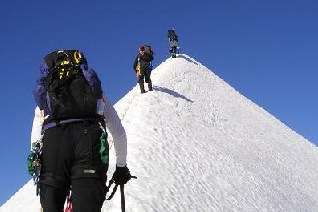 training for mountaineering can give you confidence